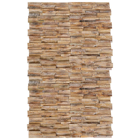 3D Wall Cladding Panels 20 pcs Solid Teak 2 m²
