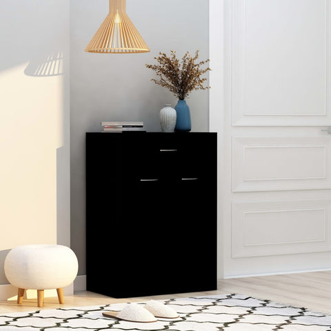 Shoe Cabinet Black 60x35x84 cm Chipboard