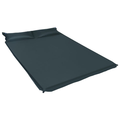 Inflatable Air Mattress with Pillow 130x190 cm Dark Green