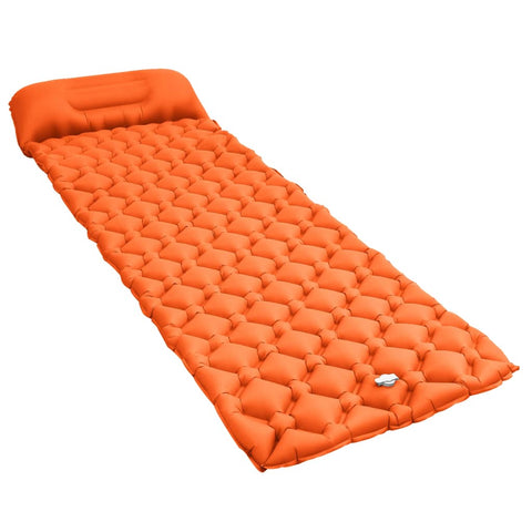 Inflatable Air Mattress with Pillow 58x190 cm Orange