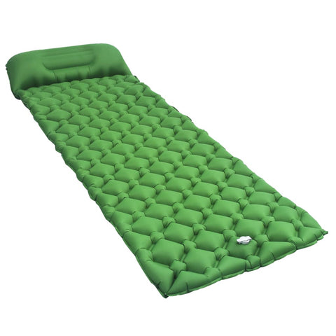 Inflatable Air Mattress with Pillow 58x190 cm Green