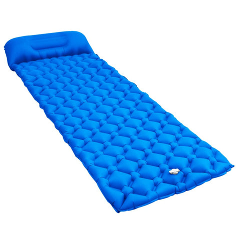 Inflatable Air Mattress with Pillow 58x190 cm Blue