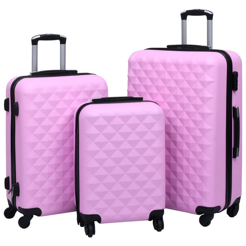 Hardcase Trolley Set 3 pcs Pink ABS