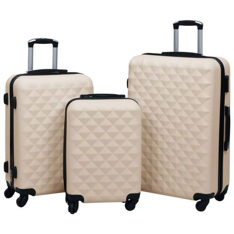 Hardcase Trolley Set 3 pcs Gold ABS