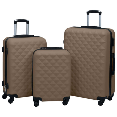 Hardcase Trolley Set 3 pcs Brown ABS
