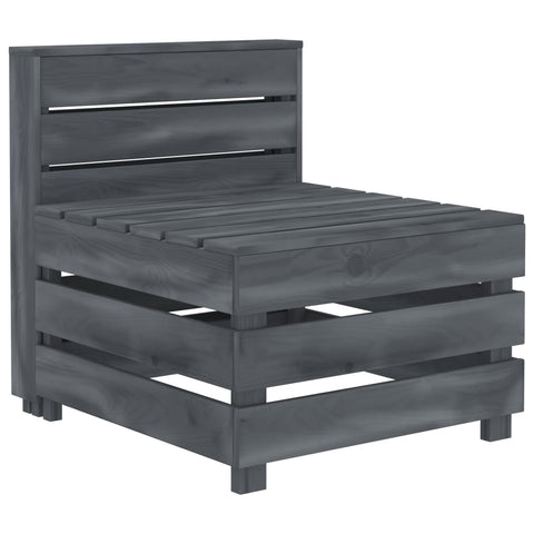 Garden Pallet Sofa Wood Grey