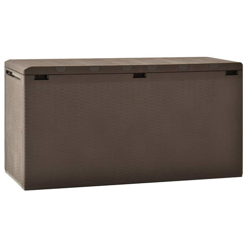 Garden Storage Box Brown 114x47x60 cm