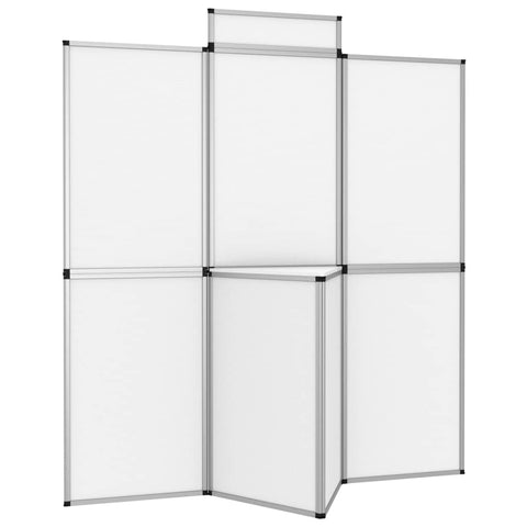 8-Panel Folding Exhibition Display Wall 181x200 cm White