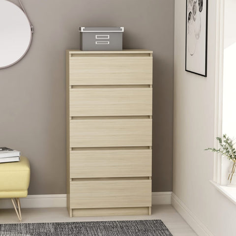 Drawer Sideboard Sonoma Oak 60x35x121 cm Chipboard