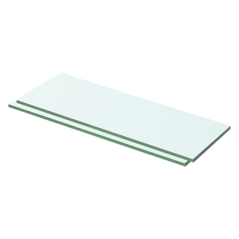 Shelves 2 pcs Panel Glass Clear 50x12 cm