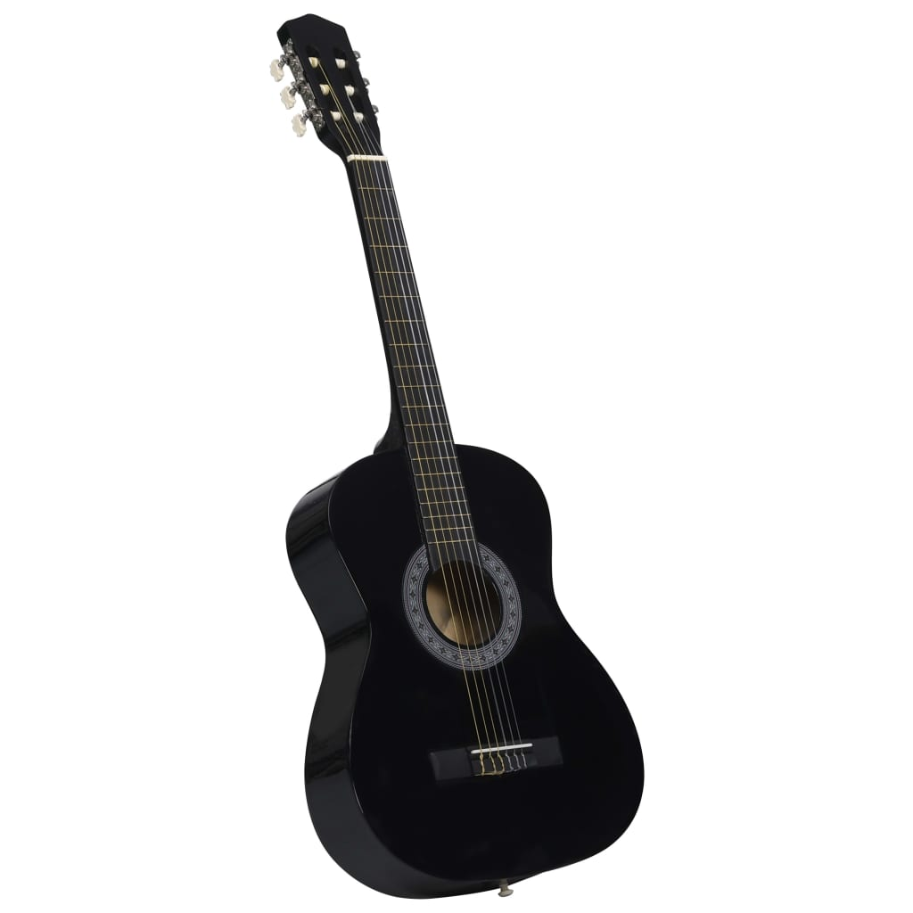Classical Guitar for Beginner and Kids Black 3/4 36""