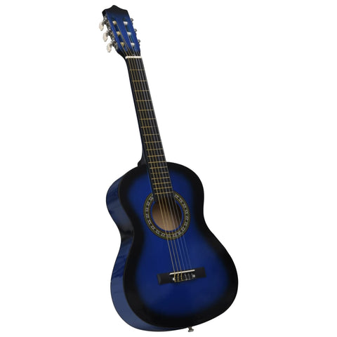 Classical Guitar for Beginner and Kids Blue 1/2 34""