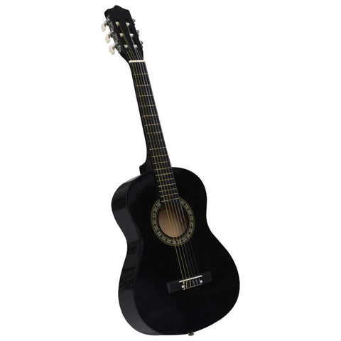 Classical Guitar for Beginner and Kids Black 1/2 34""