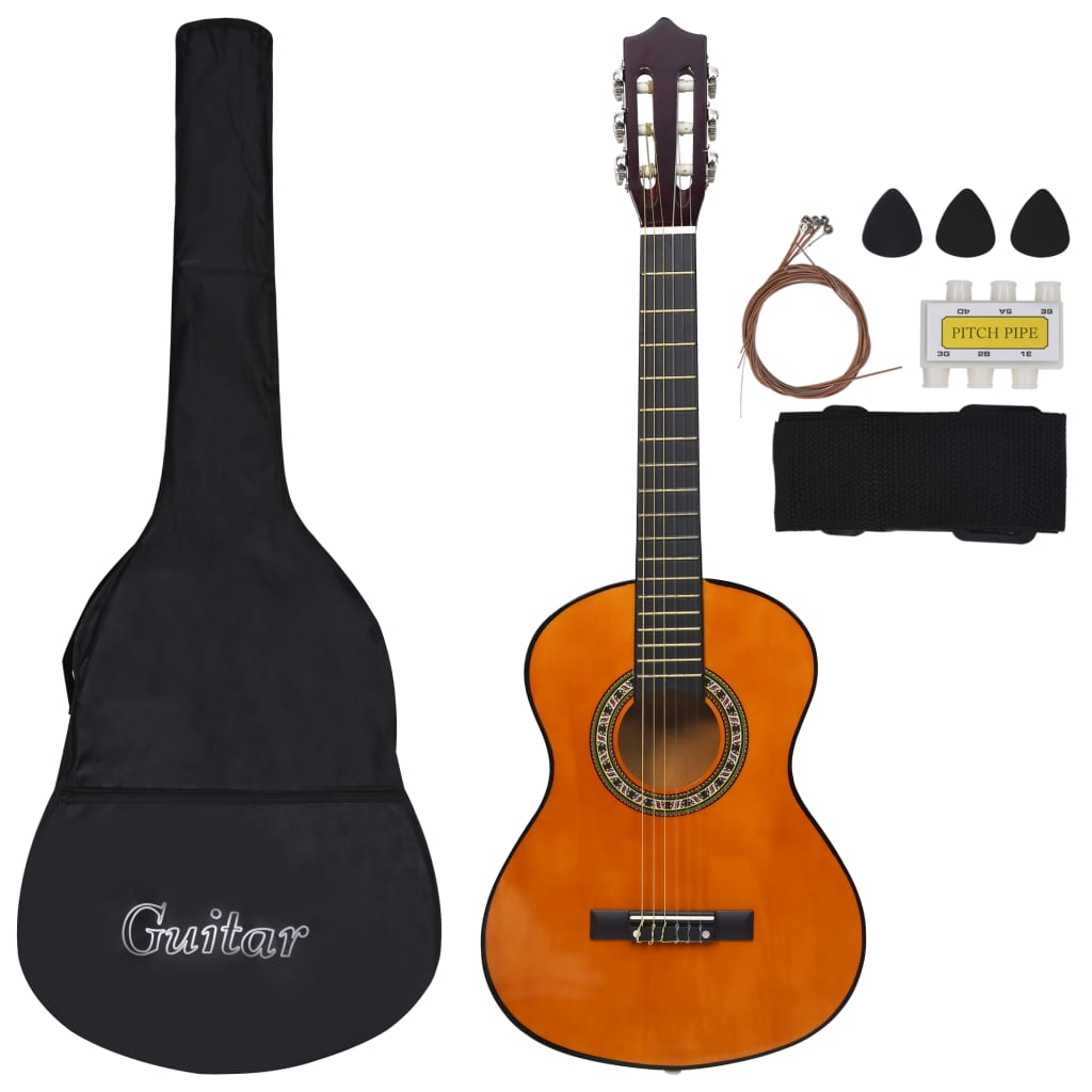 8 Piece Classical Guitar Children Beginner Set 1/2 34""