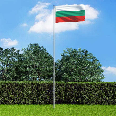 Bulgaria Flag and Pole Aluminium 6 m