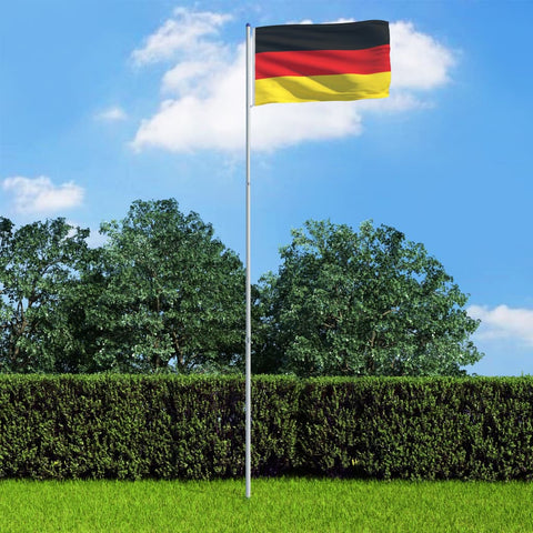 Germany Flag and Pole Aluminium 6 m