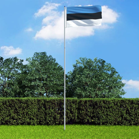 Estonia Flag and Pole Aluminium 6 m