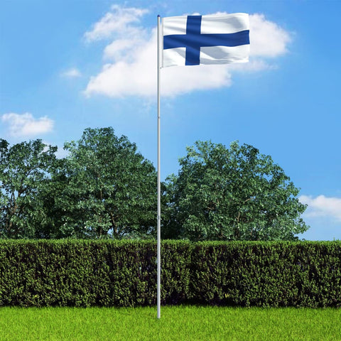Finland Flag and Pole Aluminium 6 m