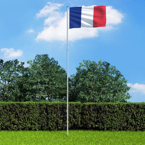 France Flag and Pole Aluminium 6 m