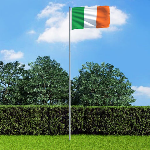 Ireland Flag and Pole Aluminium 6 m