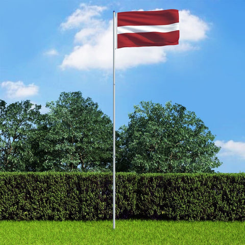 Latvia Flag and Pole Aluminium 6 m