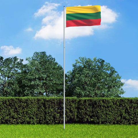 Lithuania Flag and Pole Aluminium 6 m