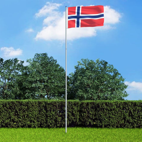 Norway Flag and Pole Aluminium 6 m
