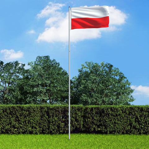 Poland Flag and Pole Aluminium 6 m