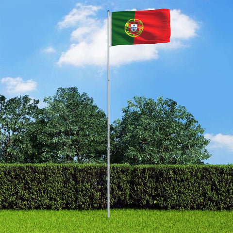 Portugal Flag and Pole Aluminium 6 m