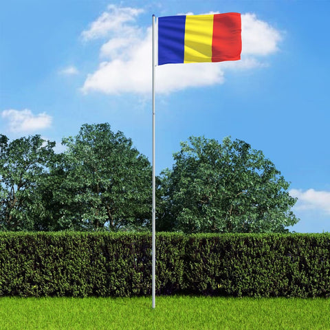 Romania Flag and Pole Aluminium 6 m