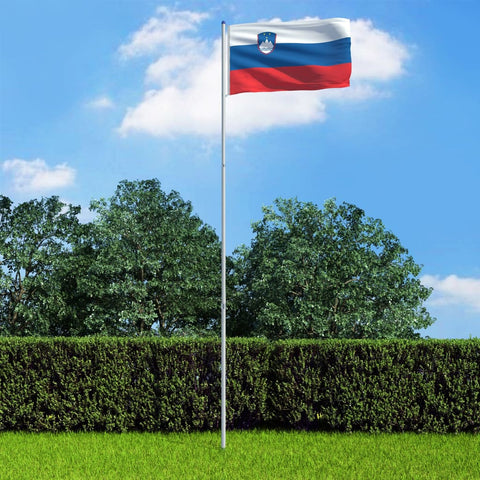 Slovenia Flag and Pole Aluminium 6 m