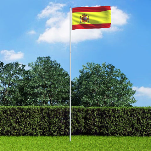 Spain Flag and Pole Aluminium 6 m