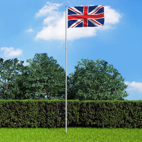 UK Flag and Pole Aluminium 6 m