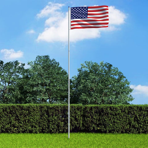 US Flag and Pole Aluminium 6 m