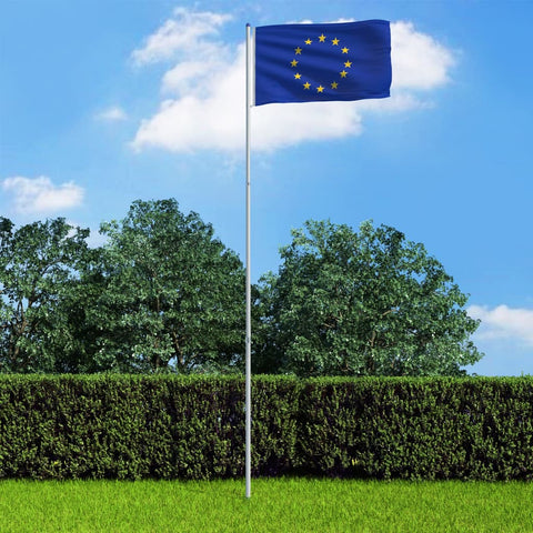 Europe Flag and Pole Aluminium 6 m