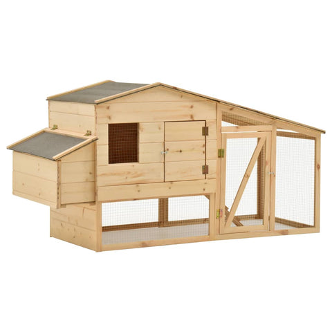 Chicken Cage Solid Pine Wood 178x67x92 cm