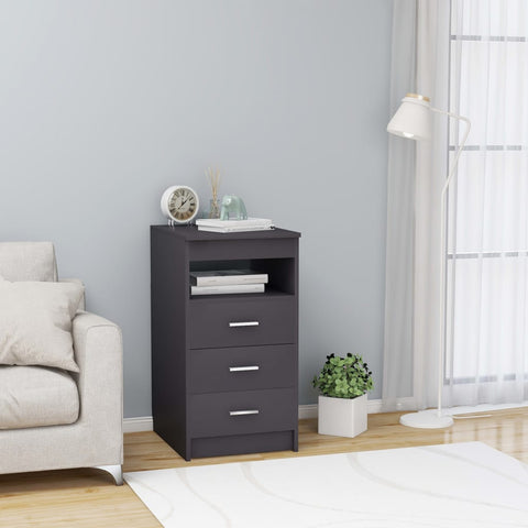 Drawer Cabinet Grey 40x50x76 cm Chipboard