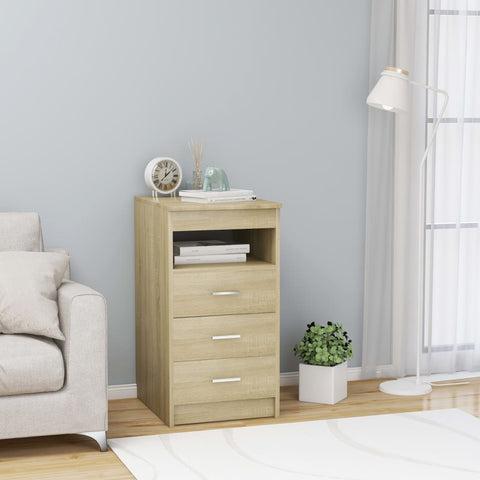 Drawer Cabinet Sonoma Oak 40x50x76 cm Chipboard