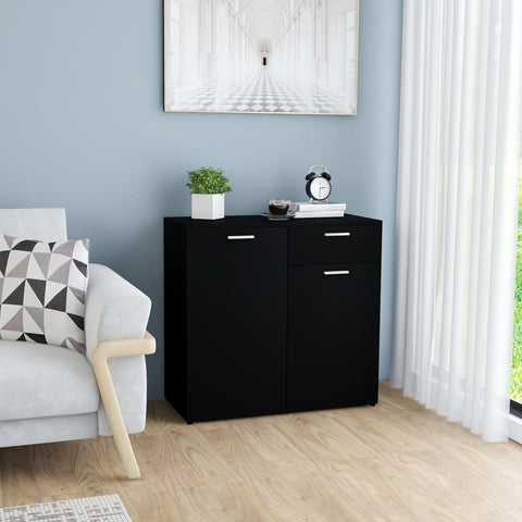 Sideboard Black 80x36x75 cm Chipboard