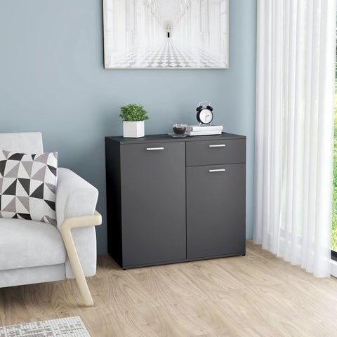 Sideboard Grey 80x36x75 cm Chipboard