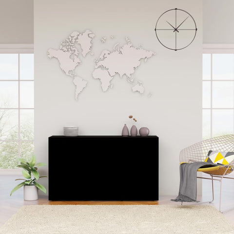 Sideboard Black 120x36x69 cm Chipboard