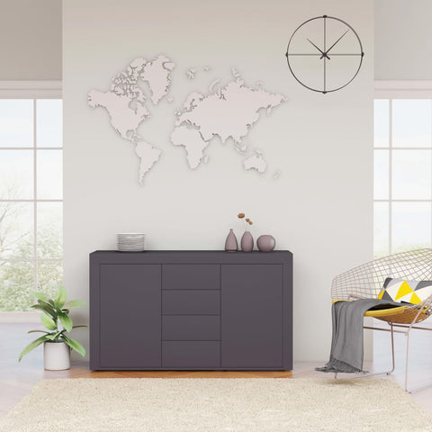 Sideboard Grey 120x36x69 cm Chipboard
