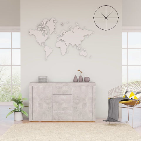 Sideboard Concrete Grey 120x36x69 cm Chipboard