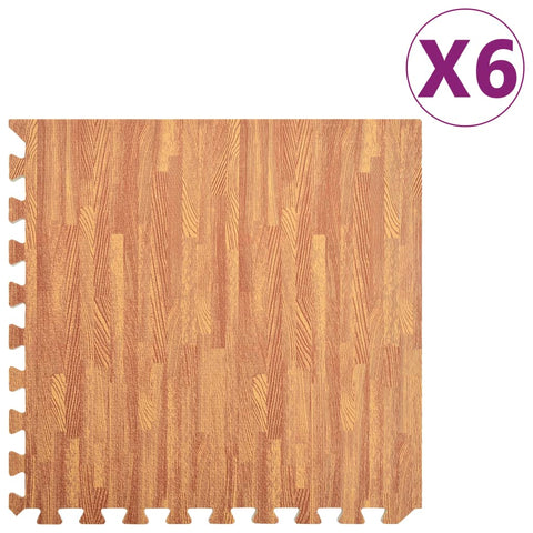 Floor Mats 6 pcs Wood Grain 2.16 ㎡ EVA Foam