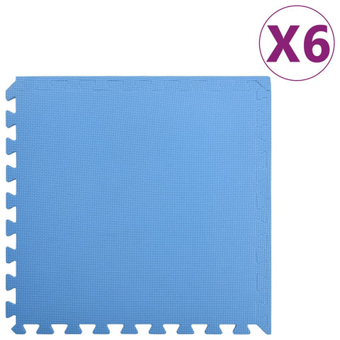 Floor Mats 6 pcs 2.16 ㎡ EVA Foam Blue
