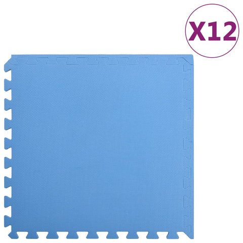 Floor Mats 12 pcs 4.32 ㎡ EVA Foam Blue
