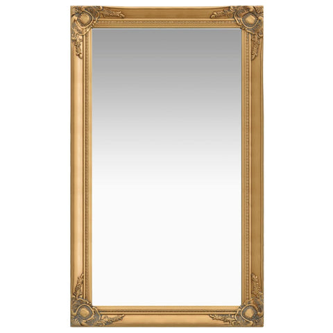 Wall Mirror Baroque Style 60x100 cm Gold