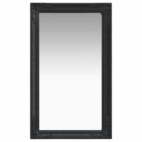 Wall Mirror Baroque Style 60x100 cm Black