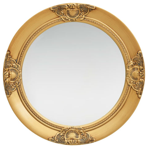 Wall Mirror Baroque Style 50 cm Gold