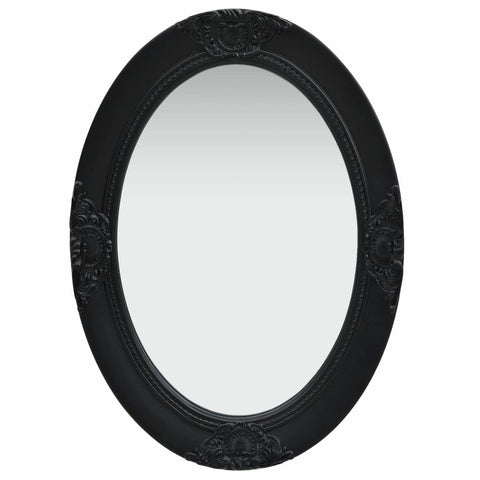 Wall Mirror Baroque Style 50x70 cm Black